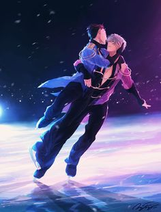 "mikkapi: ""Love on ice. Life with you. ☆ Happy birthday Victor and happy holidays to everyone! ☆ """
