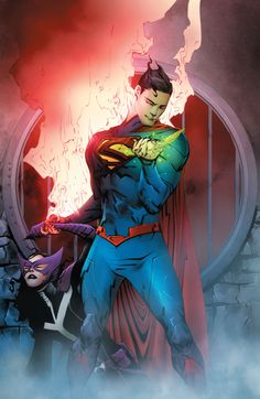 Superman vs Huntress by Jae Lee