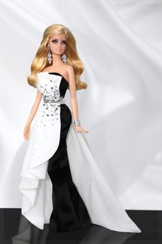 Black & White. In this photo: Beaded Gown Barbie® doll.