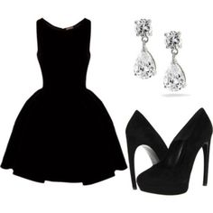 Gorgeous little black dress! Perfect for bridesmaids dresses, just maybe a different colour :)