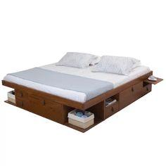Modern Gray King Platform Storage Bed Frame Bed Frame