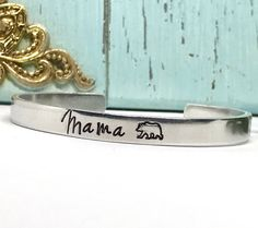 Mama Bear Cuff Bracelets Mommy and Me Bracelets Hand Personalized Jewelry, Handmade Jewelry, Woodland Animal Nursery, Mommy Jewelry, Hand Stamped Jewelry, Mommy And Me, Gifts For Mom, Baby Shower Gifts, Cuff Bracelets