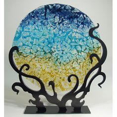 metal stands for fused glass - Google Search