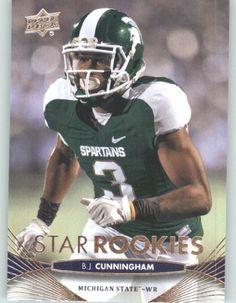 2012 Upper Deck Football Card # 59 B.J. Cunningham SR RC - Michigan State Spartans (Star Rookies / RC Rookie Card)(ENCASED NFL Trading Card) by Upper Deck Football. $2.77. 2012 Upper Deck Football Card # 59 B.J. Cunningham SR RC - Michigan State Spartans (Star Rookies / RC Rookie Card)(ENCASED NFL Trading Card)