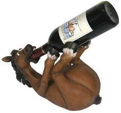 Haha, love this drunken horse wine holder