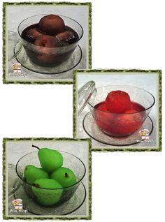 Maçã e pera na gelatina , vinho , suco de uva ou groselha