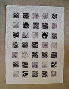 Baby Quilt-- black and white