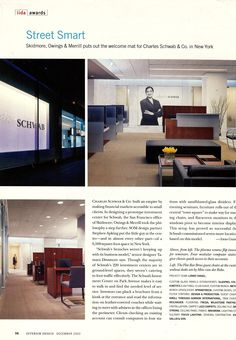 Charles Schwab Retail - Flagship location, Interior Design by SOM, Seating by Studio Guell and Gordon International