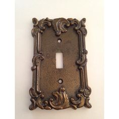 Brass Switch Plate Cover Vintage Hardware ($28) ❤ liked on Polyvore featuring home, home decor and decorative hardware
