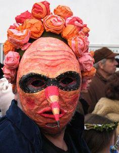 "Mask from a ""Masopust"" celebration at a Czech Waldorf School Dragon Kite, American Poetry, Vintage Mannequin, Body Figure, Makeup Designs, Craft Activities, Paper Mache, Czech Republic, Puppets"