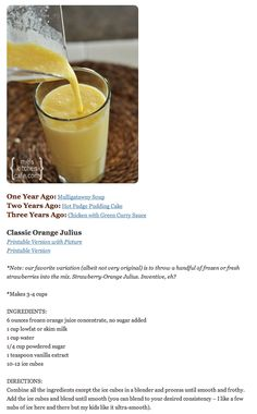 Classic Orange Julius Recipe