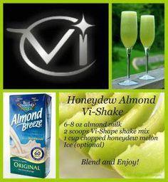 honeydew, almond, shake, body by vi, weight loss,