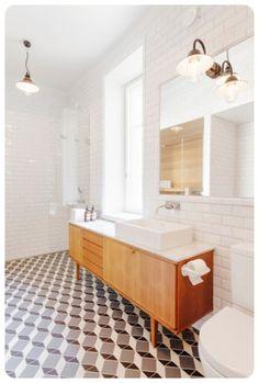 Scandi style interior design using subway or metro tiles