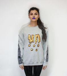 GOLD'UN SHOWER  sweatshirt, color, oversize, sequins, fashion, makeup, undecided, unlovers, fun, glitter, design, shiny, club, aliens, spontaneous, irreverent, gold, pink, blue, green, white, purple, unlovers , handmade