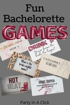 Bachelorete party games the whole gang will love! Whether you are having a wine themed bachelorette or a Halloween theme there is a game for you. This fun easy to print bachelorette drinking game will get you and your girls laughing and having a great time! ideas for bachelorette party, bachelorette party fun, bachelorette drinking ideas, bachelorette party planning, fun bachelorette party ideas bachelorette themes, best bachelorette party, bachelorette planning Bachelorette Drinking Games, Bachelorette Party Planning, Party Fun, Party Ideas, Bridal Shower Party, Halloween Themes, Birthday Party Decorations, Best Part Of Me