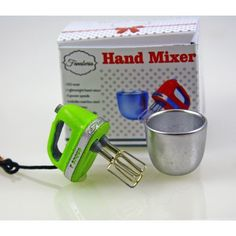 From furniture to glassware, from brass to glass, we are your on-line source for Artisan made dollhouse miniatures. Hand Mixer, Miniature Kitchen, Dollhouse Miniatures, Artisan, Glass, Handmade, Kitchen Appliances, Green, Diy Kitchen Appliances