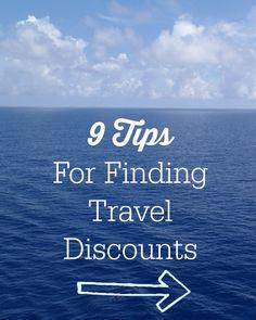 9 Tips for finding travel discounts #familytravel #travel