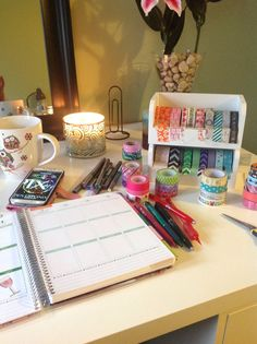 2015 Erin Condren planner! Decorating planner time while listening to Christmas music
