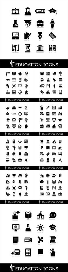 Vector Education and Learning Icons