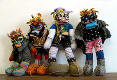 Neta Amir, Israeli artist, crocheted dolls