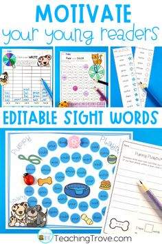 Sight word activities that are editable are perfect for creating fun centers or stations for your kindergarten or first grade students. With 38 different themes in this pack, you will have a wide range of sight word, phonics, spelling or word work games, worksheets and playdough mats you can create in seconds! Use the included assessment sheets to monitor the progress of your students. Easily create a differentiated program in your classroom.#sightwords #editablesightwords