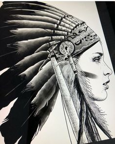 Índia Native American Tattoos, Native Tattoos, Native American Indians, Tribal Tattoos, Tattoo Drawings, Body Art Tattoos, Sleeve Tattoos, Art Drawings, Cherokee Tattoos