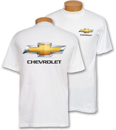 White Chevy Bowtie T Shirt Also Comes In Black Steet Ponte 3036