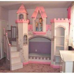 Beautiful castle bunk bed.