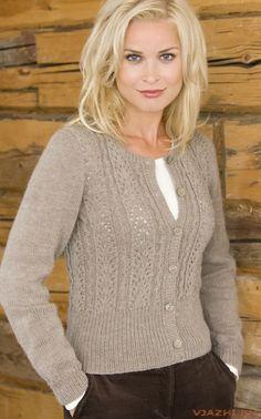 "Knitting - Free Pattern: ""Graceful cardigan"" - Level: easy."