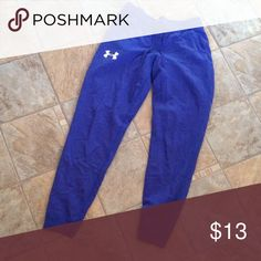 under armour sweats! purple sweats with white logo. pockets! light fading at top/waist from washing. Under Armour Pants