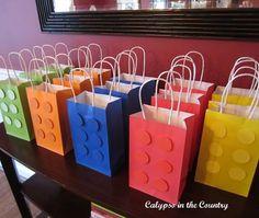 bolsitas de cumpleaños de lego