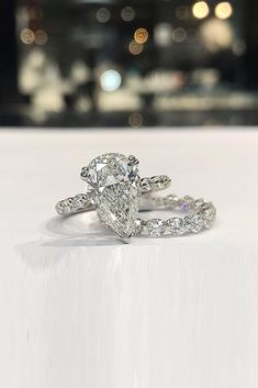 78 The Best Engagement Rings For Women In 2021 ❤ engagement rings for women wedding set pear cut solitaire #weddingforward #wedding #bride