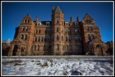 Hudson River State Hospital. Operated 1873 - 2000s. Located on US 9 on the Poughkeepsie-Hyde Park town line, New York.