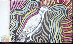 Dans ce dessin à l'encre colorée seul le sujet principal est laissé de la couleur du papier.  Il me fait penser à saturnin dans Aglaé et Sidonie ;-) Creations, Ink Drawings, Artist, Paper, Color