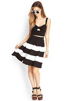 Colorblocked A-Line Skirt   FOREVER21 #SummerForever