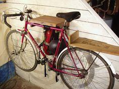 Awesome wooden bike and luggage racks
