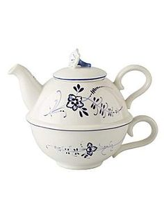 Old luxembourg tea for one, cup & pot - Villeroy & Boch