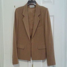 Jacket.   Sale !!! Beige , one button ,about 20 in long . Evan Picone Jackets & Coats