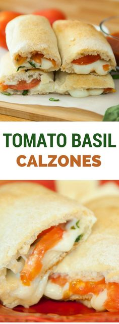 Tomato Basil Calzones recipe is healthy and easy to make.