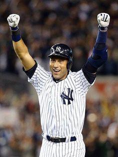 Derek Jeter hit the winning run to win the last game at  Yankee Stadium.