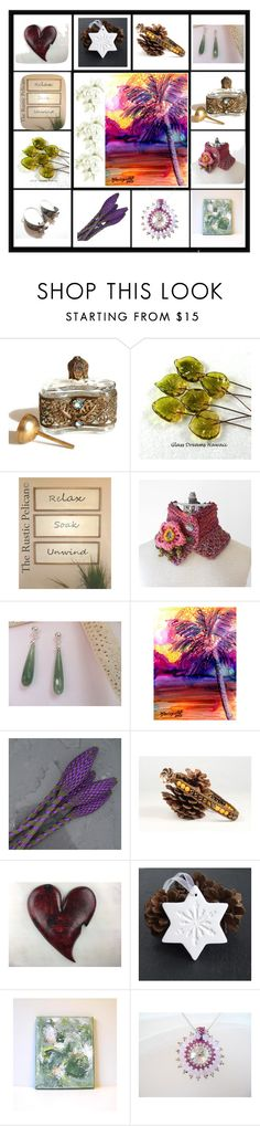 """""""Unique gifts"""" by keepsakedesignbycmm ❤ liked on Polyvore featuring Wild Rose, Christmas, etsy, jewelry, accessories and homedecor"""