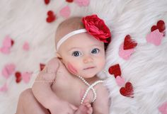 Valentine's Day 6 month portraits | Medford Oregon baby portrait photographer » Mandy Kay Photography
