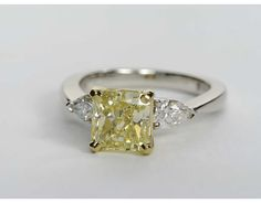 2.04 Carat Diamond Classic Pear Shaped Diamond Engagement Ring | Recently Purchased | Blue Nile