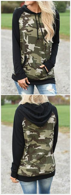 The hoodie is featuring long sleeve, round neck, camouflage printed and pullover. The hoodie is casual and sports. Camo Outfits, Girl Outfits, Fashion Outfits, Look Fashion, Winter Fashion, Country Girls Outfits, Mode Boho, Country Fashion, Cute Comfy Outfits