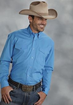 4956f74677cdf Roper Men s Long Sleeve Shirt 9792 - Item 03-001-0365-0461 BU
