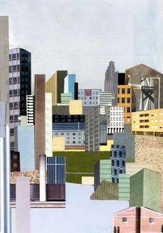 Julia Ritson, Cities and Memory 2, photomontage, 1990
