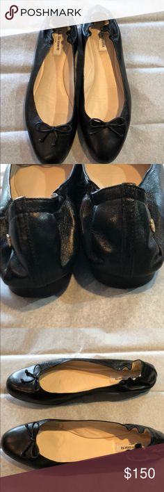LK Bennett Thea Black Ballet Flat Beautiful and timeless, these LK Bennett Thea ballerina flats are in great condition. Worn twice but the clear protective film on the leather sole caused slight burnishing. LK Bennett Shoes Flats & Loafers