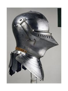 size: Giclee Print: Helmet for Close Combat on Foot, Which Belonged to Maximilian I of Habsburg : Knight In Shining Armor, Knight Armor, Medieval Knight, Medieval Armor, Womens Motorcycle Helmets, Motorcycle Girls, Ducati Monster Custom, Maximilian I, Medieval Helmets