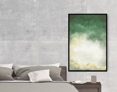 Create a unique look and feel for your wall! Green abstract decor - Original and art prints by Fraborart on SAATCHI.    #walldecor #homedecor #interiordesign #painting #modernart #abstract #art #green #gold #white #digitalart #lake #style #fraborart #saatchi #saatchiart #saatchiartist #saatchigallery #saatchiartilove
