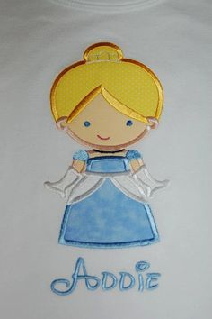 Personalized Applique Birthday  Princess by forthelittlepeeps, $20.00